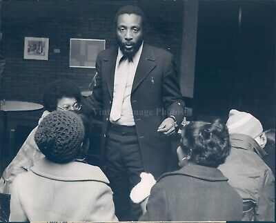 1970 Photo Dick Gregory Celebrity Actor Augsburg Coffee Hour Author 8X10
