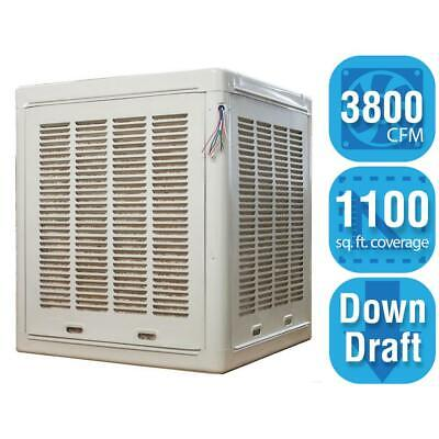 Swamp Evaporative Cooler Whole Home Fan 3800 CFM Commercial Down-Draft Roof NEW