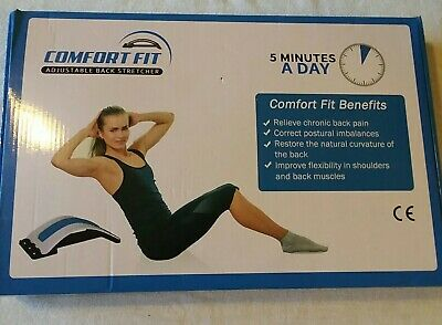 Comfort Fit Back Stretcher, 3 Level Stretching Device Lumbar Support Posture Cor