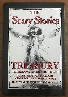 LN OOP! Schwartz/Gammell Scary Stories to in the Dark Treasury-3 Books in 1 HC!