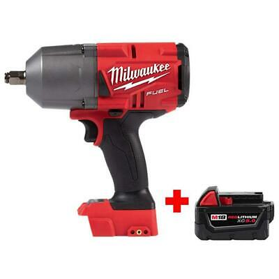 1/2 Inch Impact Wrench Milwaukee 18v Lithium Cordless Driver w/ Free Battery