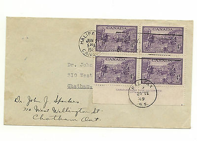 Canada FDC #283 Halifax Bicentenary Scarce Plate Block FDC Halifax Cancel  E145