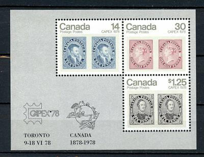Canada MNH #756a Souv Sheet Capex 1978 Stamps on Stamps  J106