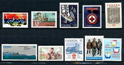 Canada MNH Commemoratives Lot 1984 Incl Cartier Medal Orchestra Etc. J078