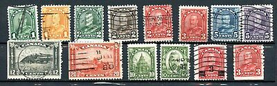 Canada Used Lot KGV Arch/Leaf Issue 19305  K385