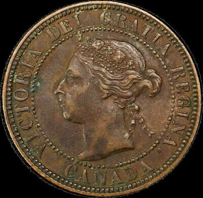 1901 Canada Large Cent 1C Queen Victoria Key Date Better Grade VF XF