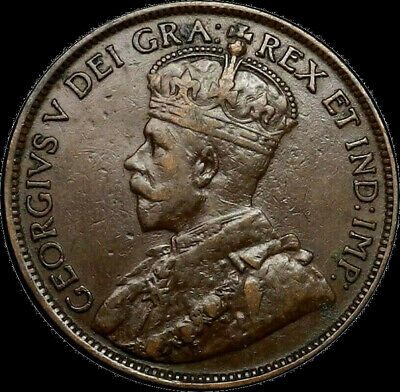 1913 Canada Large Cent 1C George V Key Date Better Grade VF XF