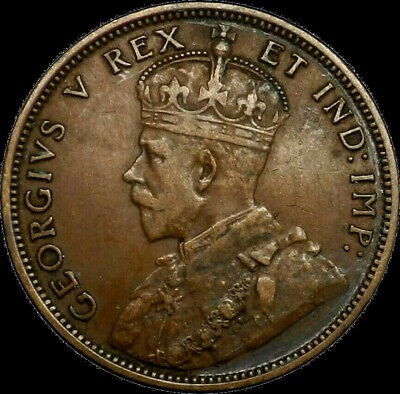 1911 Canada Large Cent 1C George V Key Date Better Grade VF