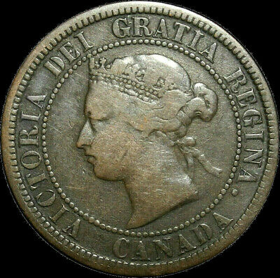 1876 H Canada Large Cent Queen Victoria Nice Coin!