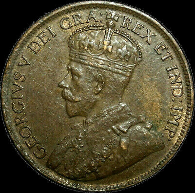 1917 Canada Large Cent George V Nice Coin!