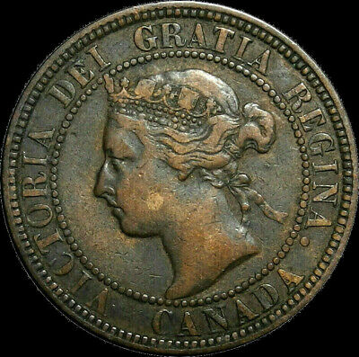 1901 Canada Large Cent Queen Victoria Nice Coin!