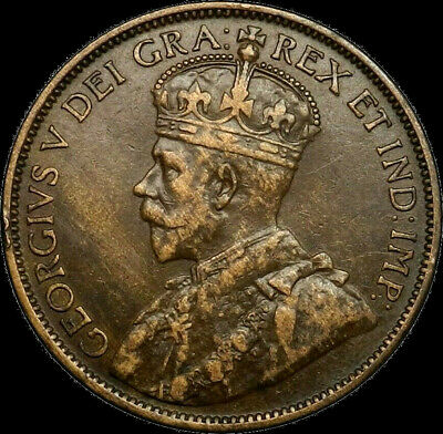 1912 Canada Large Cent 1C George V Key Date Better Grade VF XF