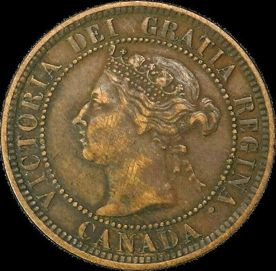 1888 Canada Large Cent 1C Queen Victoria Key Date Better Grade VF XF