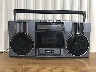 Vintage Hitachi Boombox Radio Cassette Player 1980s