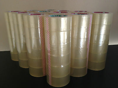 "72 Rolls Box Carton Sealing Packing Packaging Tape 2""x110 Yards(330' ft) Clear"