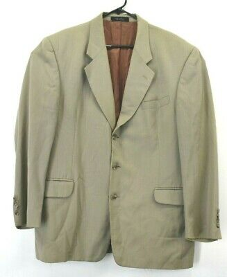 Gianfranco Ruffini Men's Size 43R Pure Wool 3 Button Suit Jacket Blazer Tan