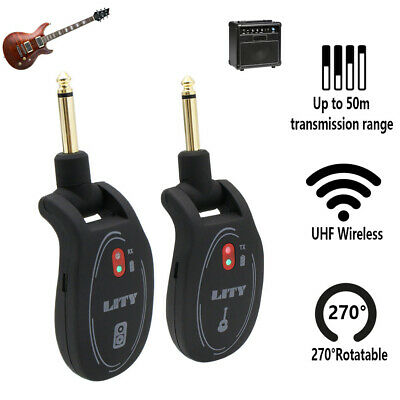 Wireless Guitar System Transmitter & Receiver rechargeable Battery US seller