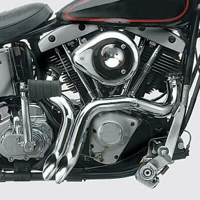 SHARKROAD Chrome 2 LAF Drag Pipes Exhaust For Harley Softail Sportster 1984-2015 with Flange Kit