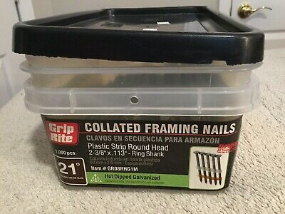 GRIP RITE Collated Framing Nails. 644 Pieces. 28 Nails/Strip. 23 Strips.