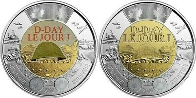 2019 Canada Paint and Regular D-Day Toonie Graded as Brilliant Uncirculated