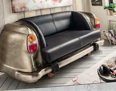 Antique Nickel Backseat Car Sofa  Retro Lounge Couch Vintage Settee