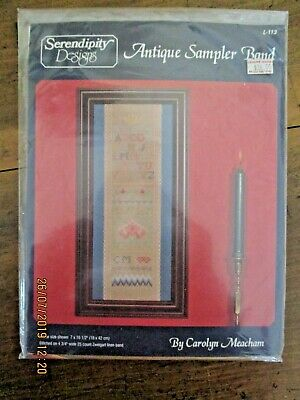 ~Bn Serendipity Designs Antique Sampler Band L113 Kit - 1996~