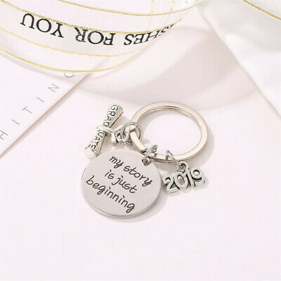 Fashion Engraving Keyring Stainless Steel Keychain Graduation keyring Gifts HD