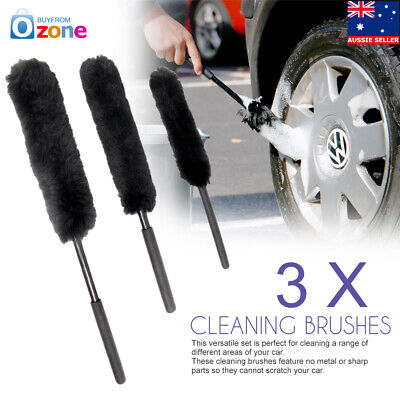 3pcs/set Wool Wheel Woolies Cleaners Cleaning Brushes Car Mag Non Scratch