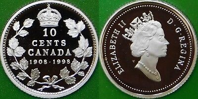 1998 Canada Silver Dime Graded as Proof From Original Set