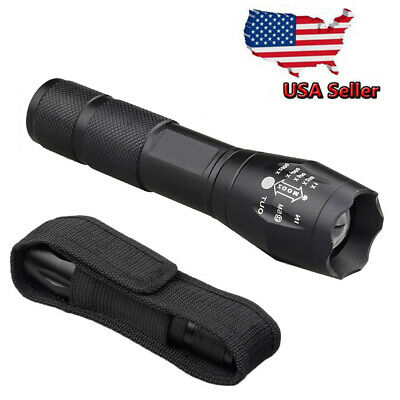 Tactical Military 50000Lumens LED Flashlight Torch Zoom G700 Grade with Holster
