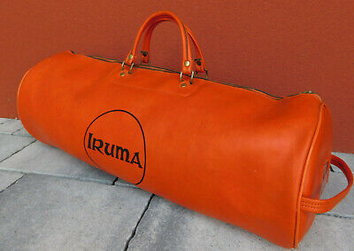 VINTAGE SAC IRUMA de SPORT tasche FRANCE MADE bag orange volleyball ballon BALL