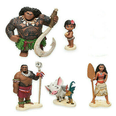 Hot! Moana Movie Princess PVC Action Figure Toys For Children Birthday Gifts