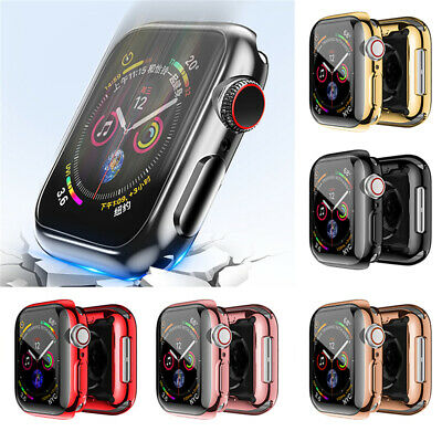 For Apple Watch iWatch 44mm Series 4 Case Screen Protector TPU Clear Film Bumper