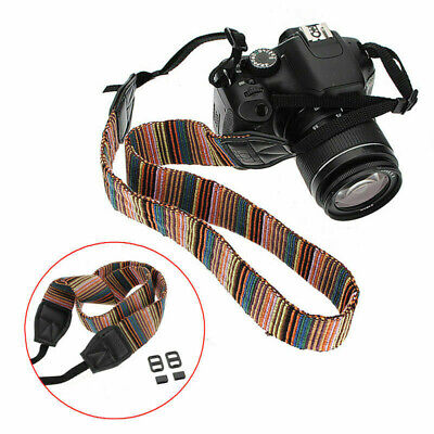 Vintage Camera Neck Shoulder Sling Belt Strap For DSLR/SLR Canon/Nikon/Panasonic