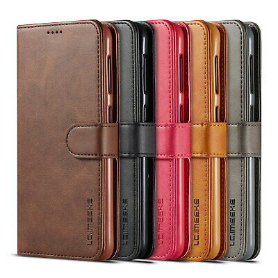 For Samsung Galaxy A10 A40 A50 Retro Leather Wallet Flip Case Stand Phone Cover