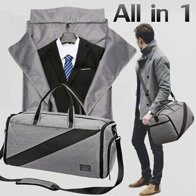 AU New 2 in 1 Business Travel Garment Bag Carry On Suit Bag Handbag Luggage Tote