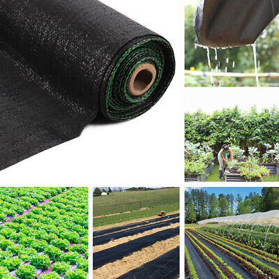Long Heavy Duty Ground Cover Mat Garden Mulch Weed Control Fabric Woven Membrane