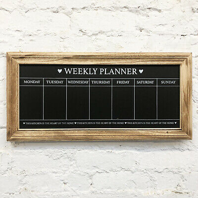 Vintage Wall Mounted Weekly Food Meal Menu Planner Memo Message Board Chalkboard