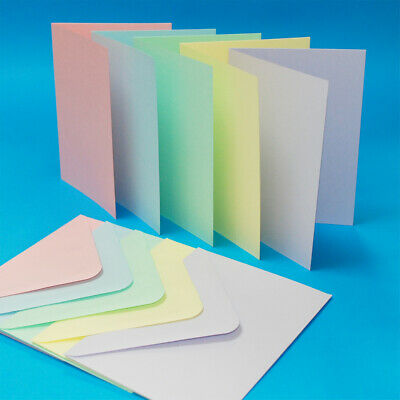 Pack of 10 x C6A6 Blank Cards with Envelopes - Choice of colours - Craft UK