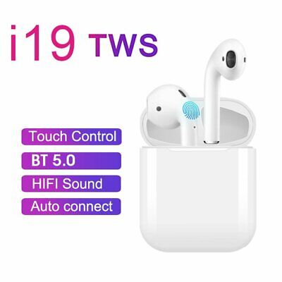 i19 TWS Earbuds Bluetooth 5.0 Earphones Touch Control Headset Stereo Headphones