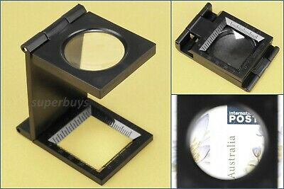 Folding Jewellers Loupe 10X Lens Magnification Magnifying Eye Eyeglass Desk Tool