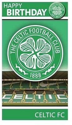 Official CELTIC FC FOOTBALL CLUB Happy Birthday Greetings Card with BADGE Crest