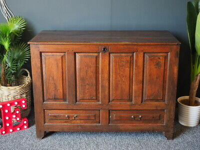 Antique 18th Century Oak Mule Chest Trunk Storage UK DELIVERY AVAILABLE