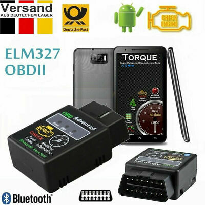 ELM327 Bluetooth OBD II Diagnostic Scanner für Torque Android VW Opel Honda DE