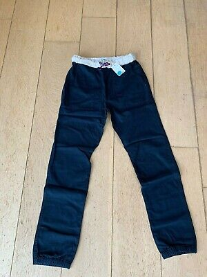 Boden Boys Relaxed Slim Pull on Trousers Navy Drawstring BNWT Age 12 Years 152cm