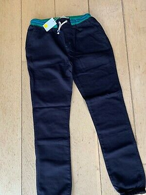 Boden Boys Relaxed Slim Pull on Trousers Navy Drawstring BNWT Age 13 Years 158cm