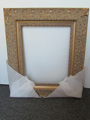 Rare Antique Gold Wooden Ornate Picture frame 16x20 inches -5 ''inches wide New