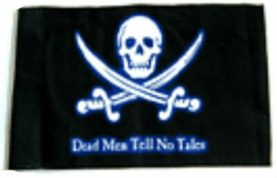 "12x18 Dead Men Tell No Tales Pirate Flag 12/""X18/"" 2 SIDED NYLON BOAT Flag"