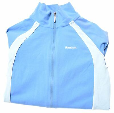 REEBOK Girls Tracksuit Top Jacket 11-12 Years Blue Cotton  HY03