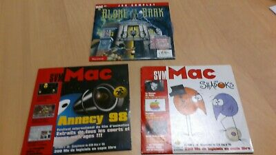vintage lot 3 cdrom SVM Mac annees 90:alone in the dark-les shadoks-film annecy